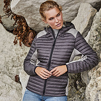 Tee Jays - Ladies Hooded Outdoor Crossover Jacket