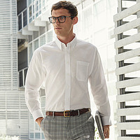 Fruit of the Loom - Men Oxford Shirt Long Sleeve